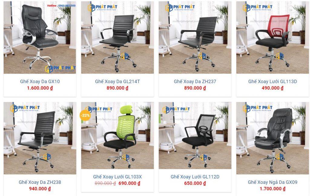 Địa điểm bán ghế xoay văn phòng giá rẻ chất lượng - 1