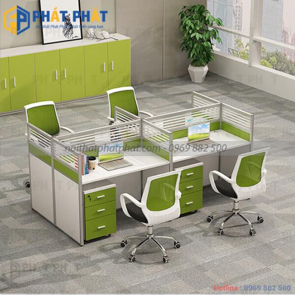 Không gian làm việc sang trọng, ấn tượng với mẫu bàn văn phòng có vách ngăn