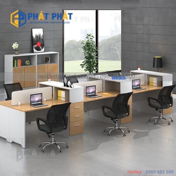 Không gian làm việc sang trọng, ấn tượng với mẫu bàn văn phòng có vách ngăn - 1